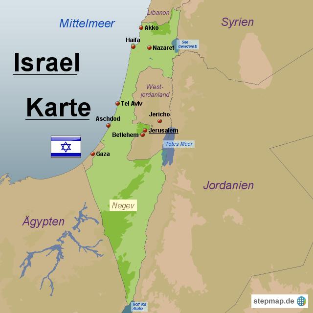 landkarte israel StepMap   Israel Karte   Landkarte für Israel landkarte israel
