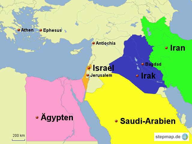 Jerusalem Karte Welt.Stepmap Israel Und Nachbarlander Landkarte Fur Israel