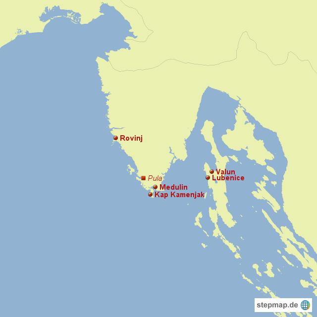 Karte Istrien Kroatien.Stepmap Istrien Landkarte Fur Kroatien
