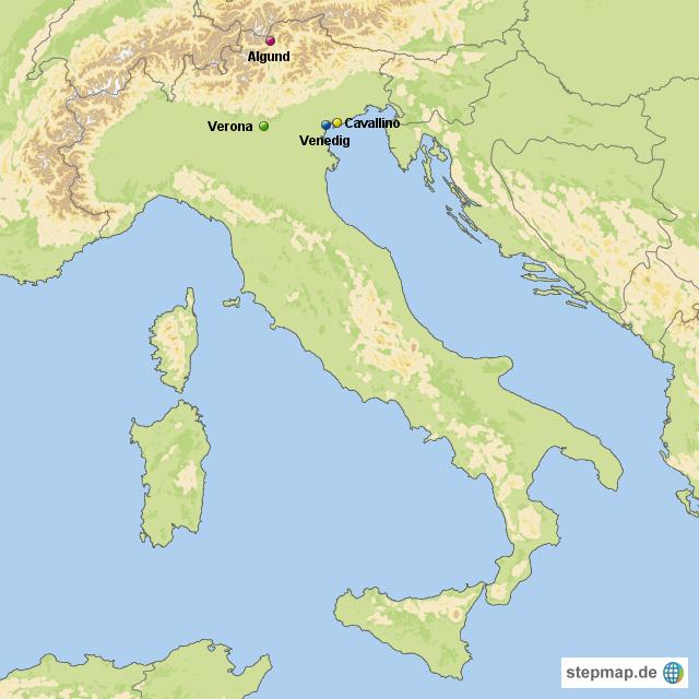 Verona Italien Karte.Stepmap Italien Landkarte Für Italien