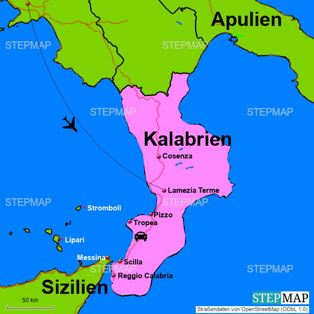 kalabrien landkarte italien StepMap   Italien(Kalabrien)   Landkarte für Italien
