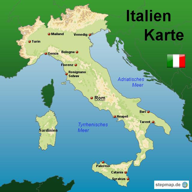 karte von italien StepMap   Italien Karte   Landkarte für Italien karte von italien