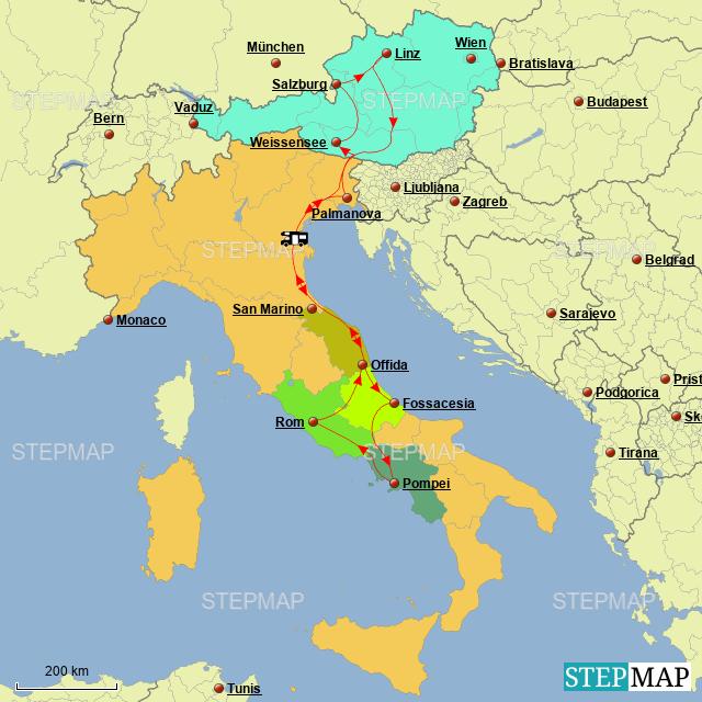 Stepmap Italien Rom Vesuv 2018 Landkarte Fur Italien
