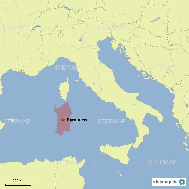 sardinien karte italien StepMap   Italien / Sardinien   Landkarte für Deutschland sardinien karte italien