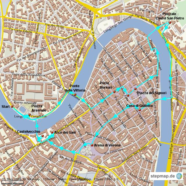 Verona Italien Karte.Stepmap Italien Verona Landkarte Für Welt