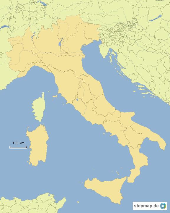 Karte Italien Regionen.Stepmap Italien Regionen übung Landkarte Für Italien