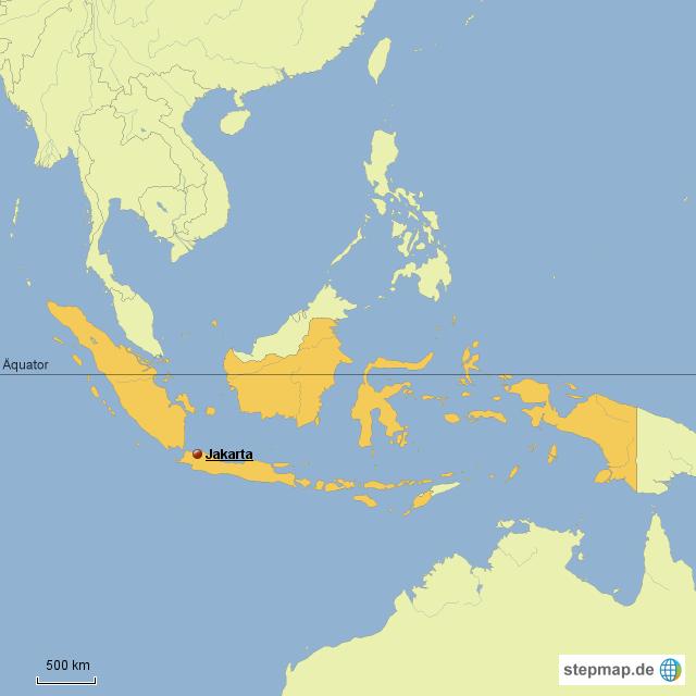 jakarta karte StepMap   Jakarta Hauptstadt   Landkarte für Indonesien