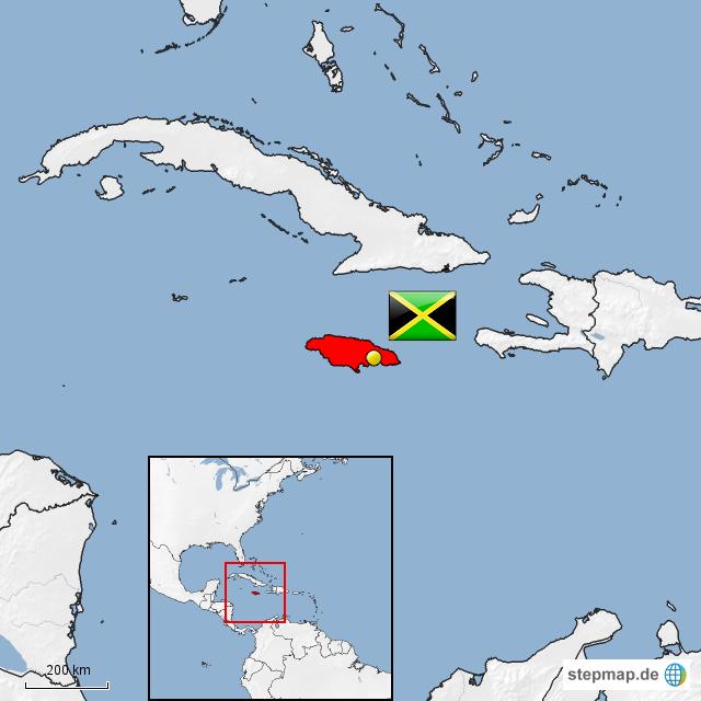 jamaika landkarte StepMap   Jamaika   Landkarte für Jamaika jamaika landkarte