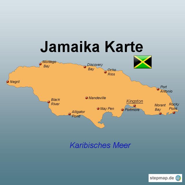 jamaika landkarte StepMap   Jamaika Karte   Landkarte für Jamaika jamaika landkarte