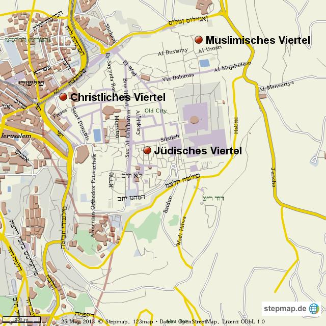 Jerusalem Karte Welt.Stepmap Jerusalem Landkarte Fur Welt