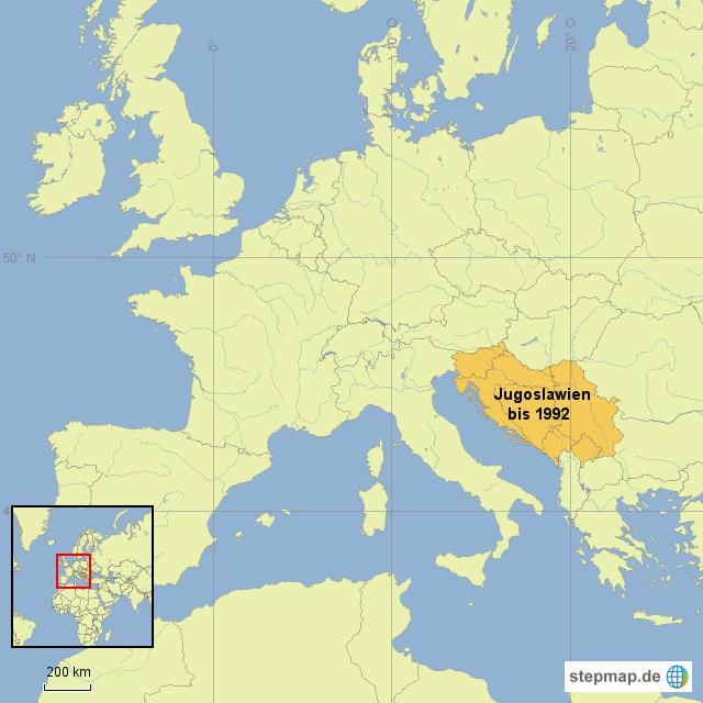 Jugoslawien Karte.Stepmap Jugoslawien Landkarte Für Kroatien