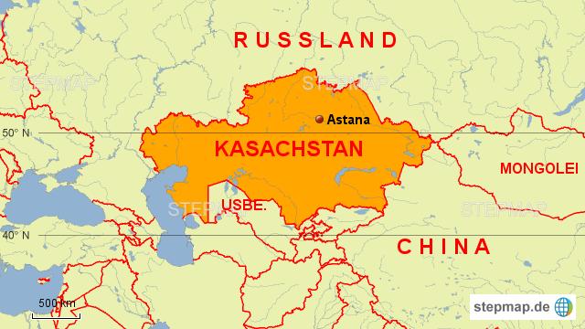 Karte Russland Asien.Karte Russland Kasachstan