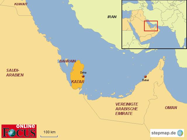 katar landkarte StepMap   KATAR   Krise in der arabischen Welt   Landkarte für  katar landkarte