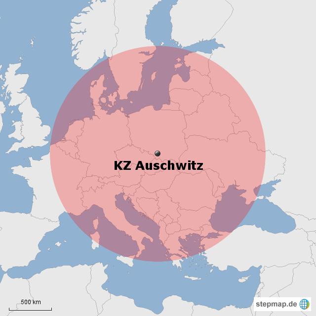 Auschwitz Karte.Stepmap Kz Auschwitz Landkarte Für Europa