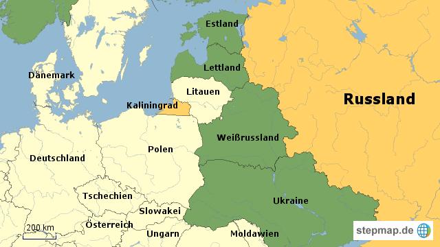 Königsberg Kaliningrad Karte.Stepmap Kaliningrad Größe Landkarte Für Russland