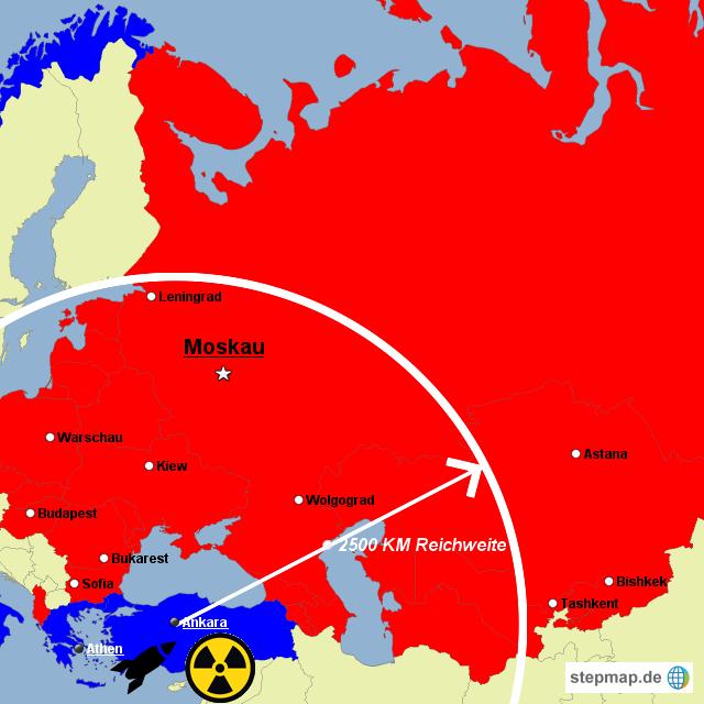 Kalter Krieg Karte.Stepmap Kalter Krieg 1962 Landkarte Für Russland