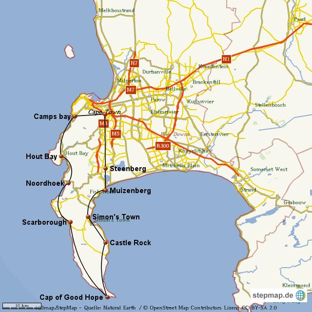 kap der guten hoffnung karte StepMap   Kap der guten Hoffnung   Landkarte für Welt