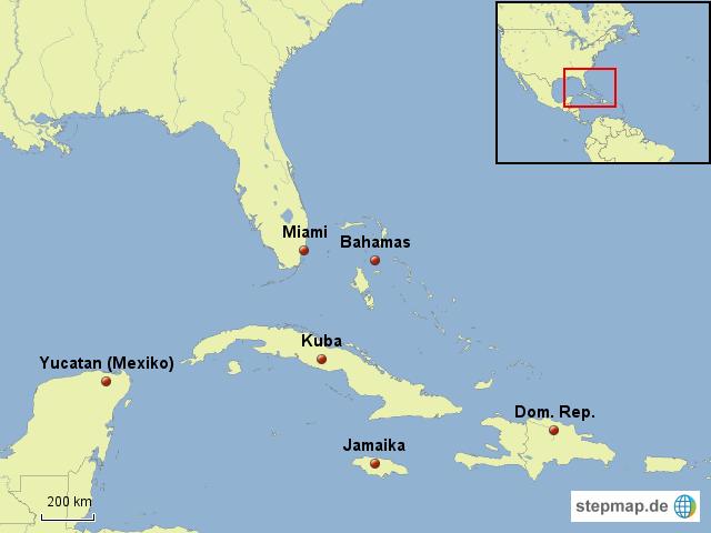 Karibik Karte.Stepmap Karibik Landkarte Für Südamerika