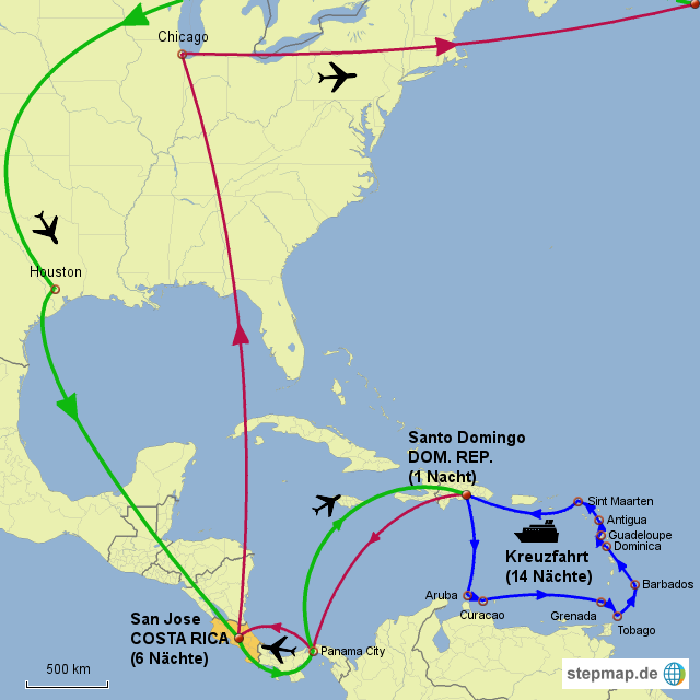 Karibik Karte Welt.Stepmap Karibik Landkarte Für Welt