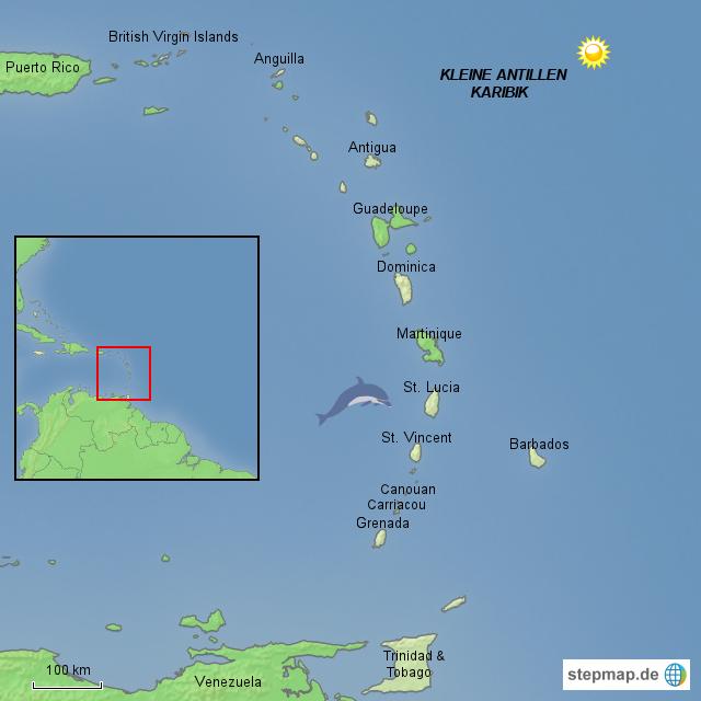 Kleine Antillen Karte.Stepmap Karibik Kleine Antillen