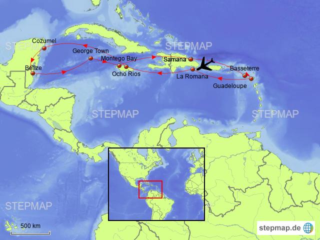 Karibik Karte Welt.Stepmap Karibik Mexiko Landkarte Für Welt