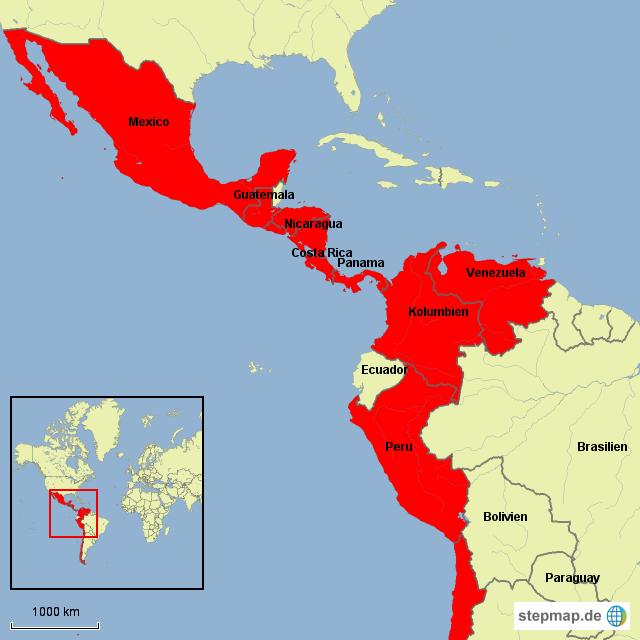 Karte Afrika Kolonien.Stepmap Karl V Kolonien In Amerika Landkarte Fur Sudamerika