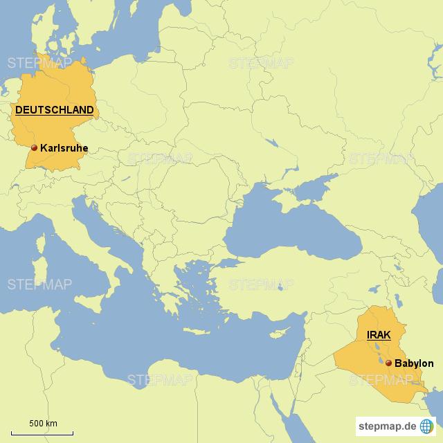 babylon karte Babylon Landkarte   Deutschland Karte