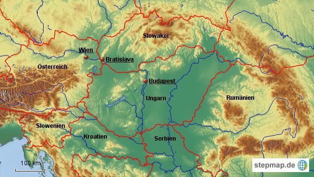 Stepmap Karpaten Landkarte Fur Deutschland