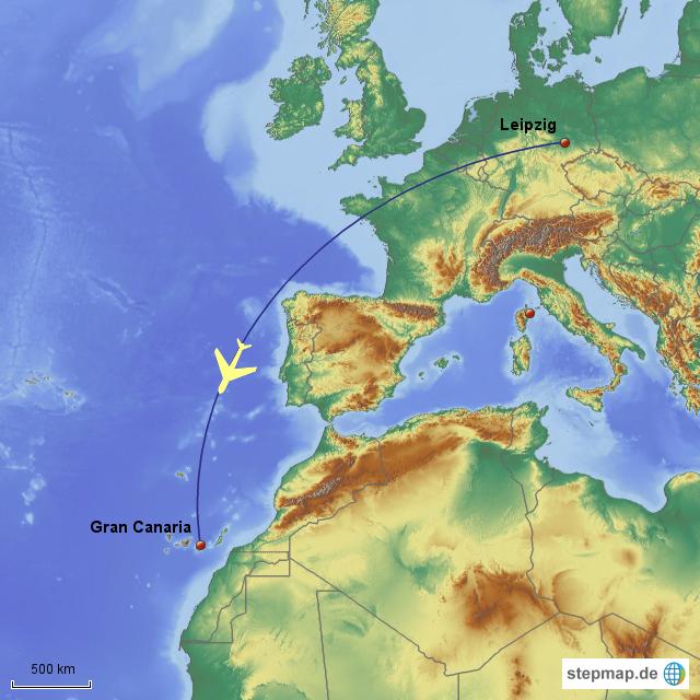 gran canaria karte StepMap   Karte 1: Leipzig   Gran Canaria   Landkarte für Deutschland