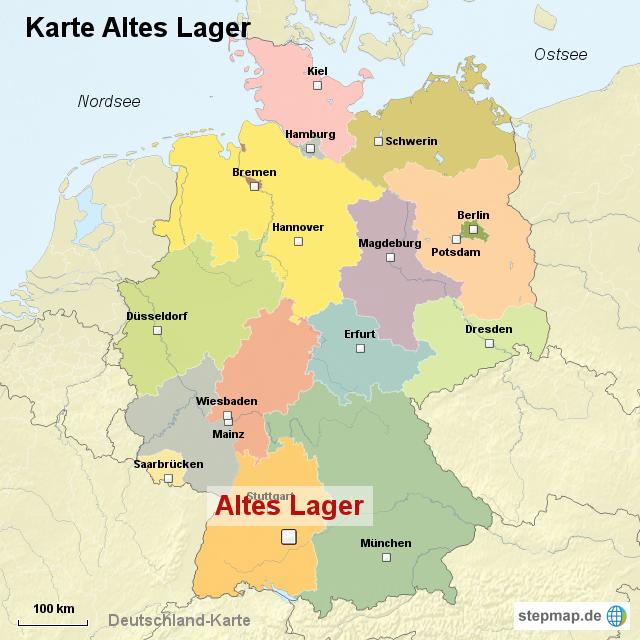 alte deutschland karte StepMap   Karte Altes Lager   Landkarte für Deutschland alte deutschland karte