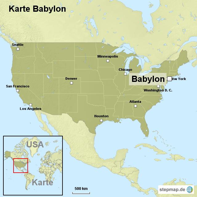 Babylon Karte.Stepmap Karte Babylon Landkarte Für Usa