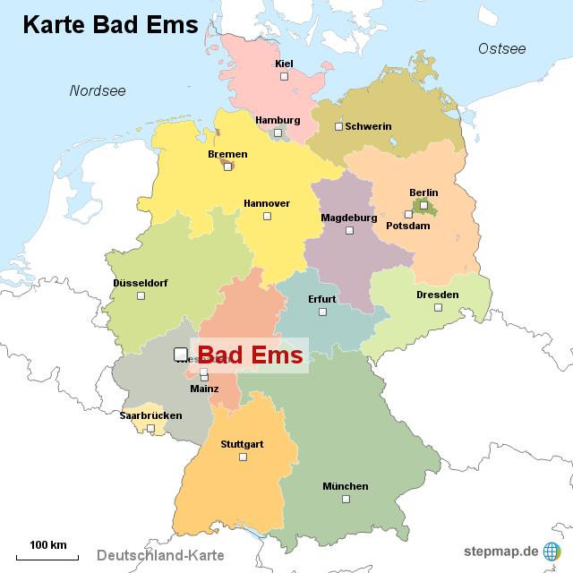 bad ems karte StepMap   Karte Bad Ems   Landkarte für Deutschland bad ems karte