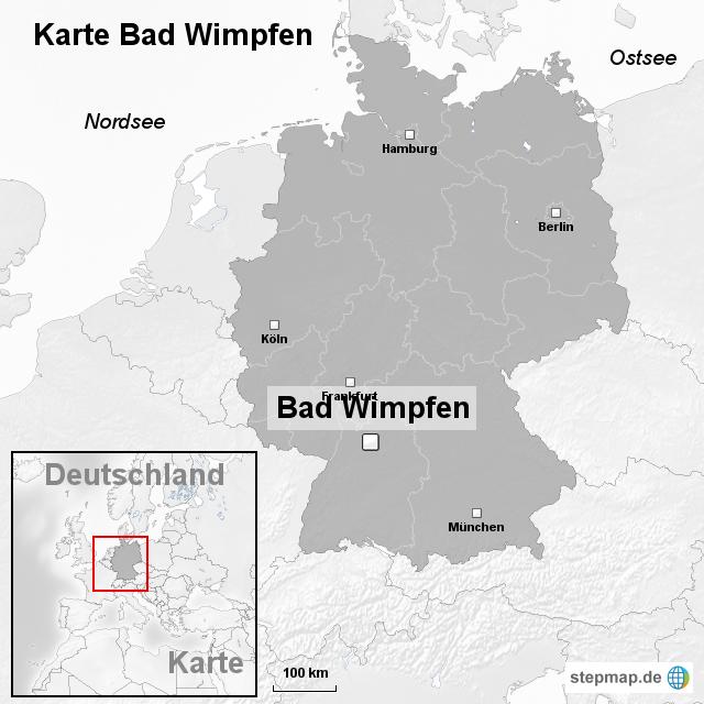 bad wimpfen karte StepMap   Karte Bad Wimpfen   Landkarte für Deutschland