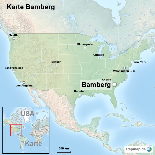Karte Bamberg Landkarte.Stepmap Karte Bamberg Landkarte Fur Usa