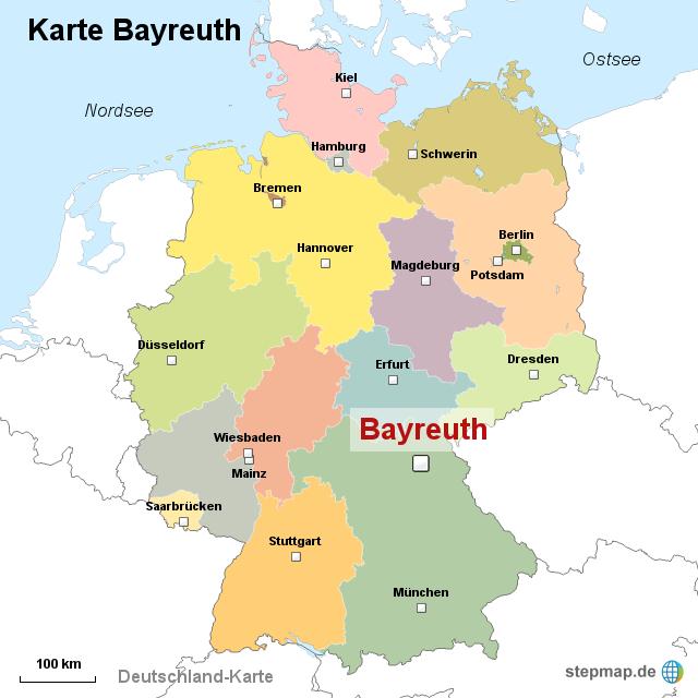 karte bayreuth StepMap   Karte Bayreuth   Landkarte für Deutschland karte bayreuth