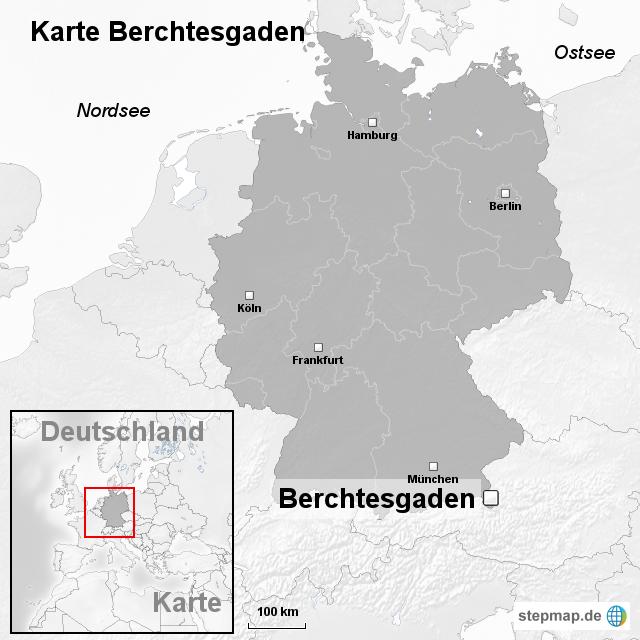Berchtesgadener Land Karte.Stepmap Karte Berchtesgaden Landkarte Für Deutschland