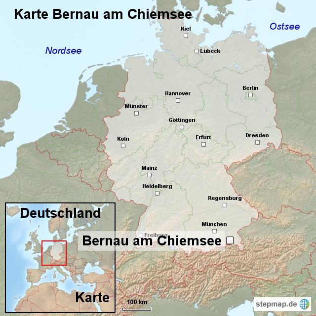 Chiemsee Karte.Stepmap Karte Bernau Am Chiemsee Landkarte Für Deutschland