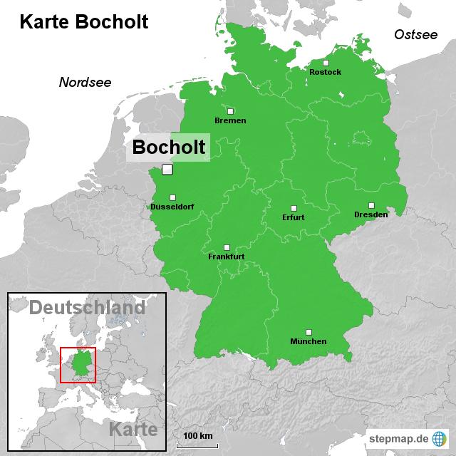 bocholt karte StepMap   Karte Bocholt   Landkarte für Deutschland bocholt karte
