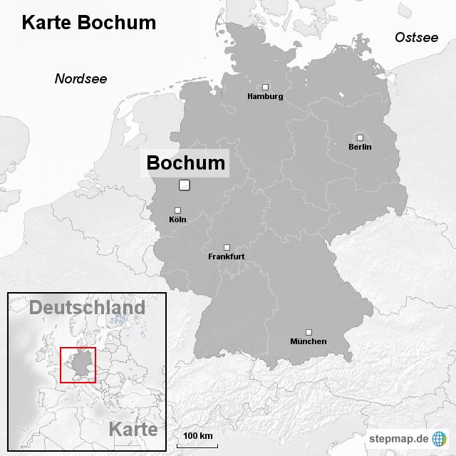 bochum karte StepMap   Karte Bochum   Landkarte für Deutschland bochum karte