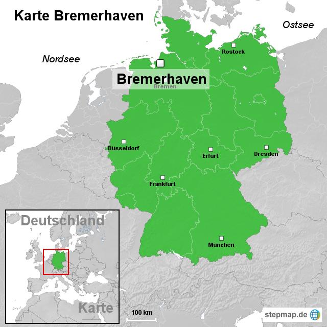 bremerhaven karte StepMap   Karte Bremerhaven   Landkarte für Deutschland