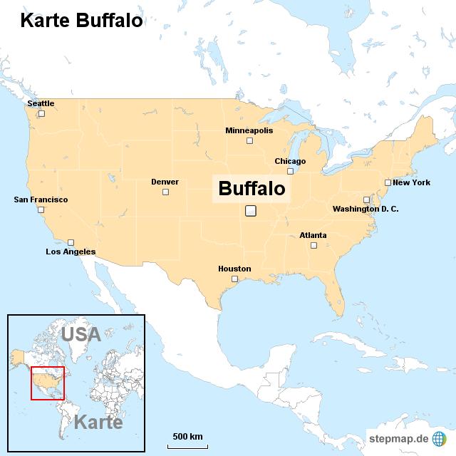 Stepmap Karte Buffalo Landkarte Fur Usa