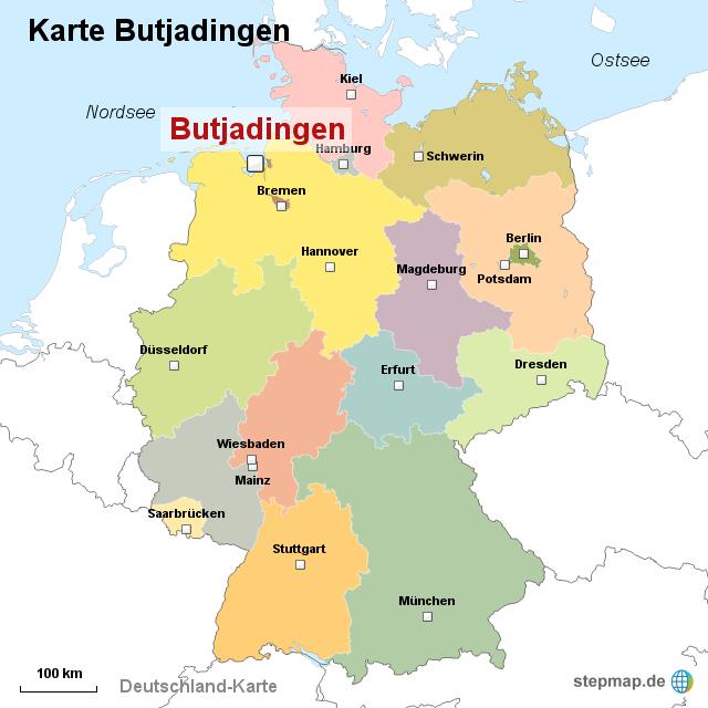 butjadingen karte StepMap   Karte Butjadingen   Landkarte für Deutschland