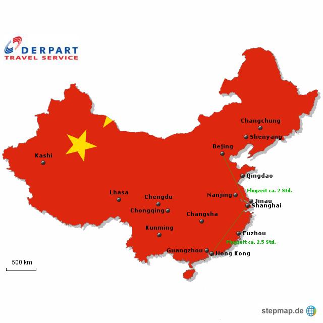 karte von china StepMap   Karte China   Landkarte für China karte von china