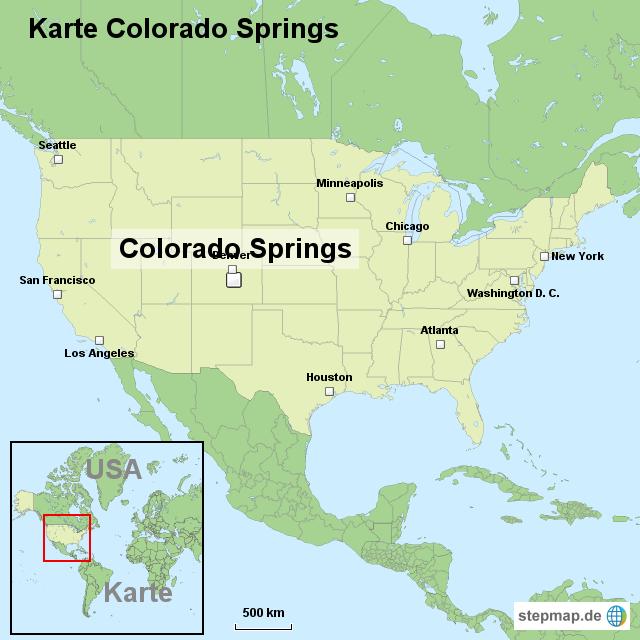 Colorado Karte.Stepmap Karte Colorado Springs Landkarte Für Usa