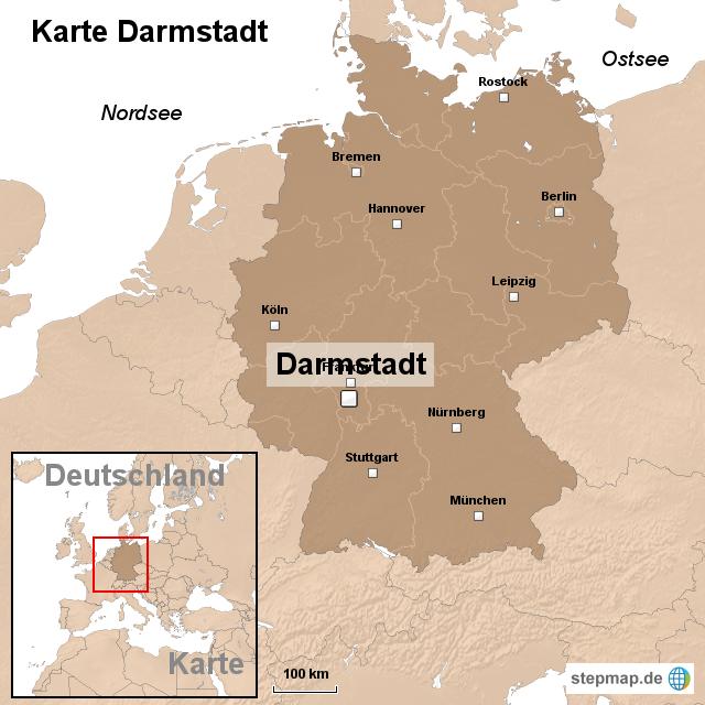 darmstadt karte deutschland StepMap   Karte Darmstadt   Landkarte für Deutschland