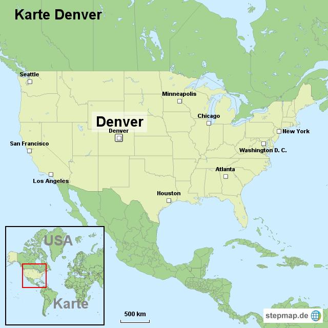 Stepmap Karte Denver Landkarte Fur Usa