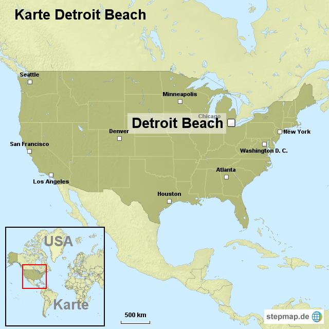 detroit karte StepMap   Karte Detroit Beach   Landkarte für USA