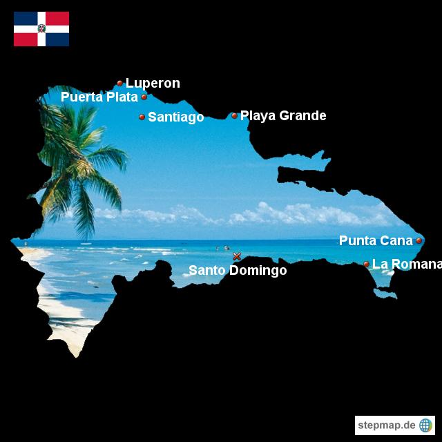 landkarte dominikanische republik StepMap   Karte Dom. Republik   Landkarte für Dominikanische Republik landkarte dominikanische republik