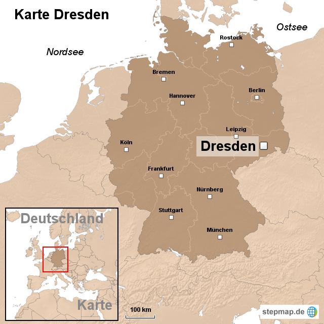 dresden karte StepMap   Karte Dresden   Landkarte für Deutschland dresden karte