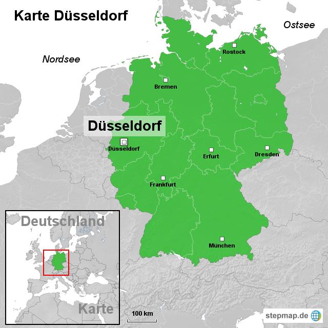 karte düsseldorf StepMap   Karte Düsseldorf   Landkarte für Deutschland karte düsseldorf
